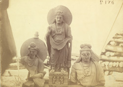 Group of statues of Buddhas and Bodhisattvas excavated at Lorian Tangai, Peshawar District 10031047